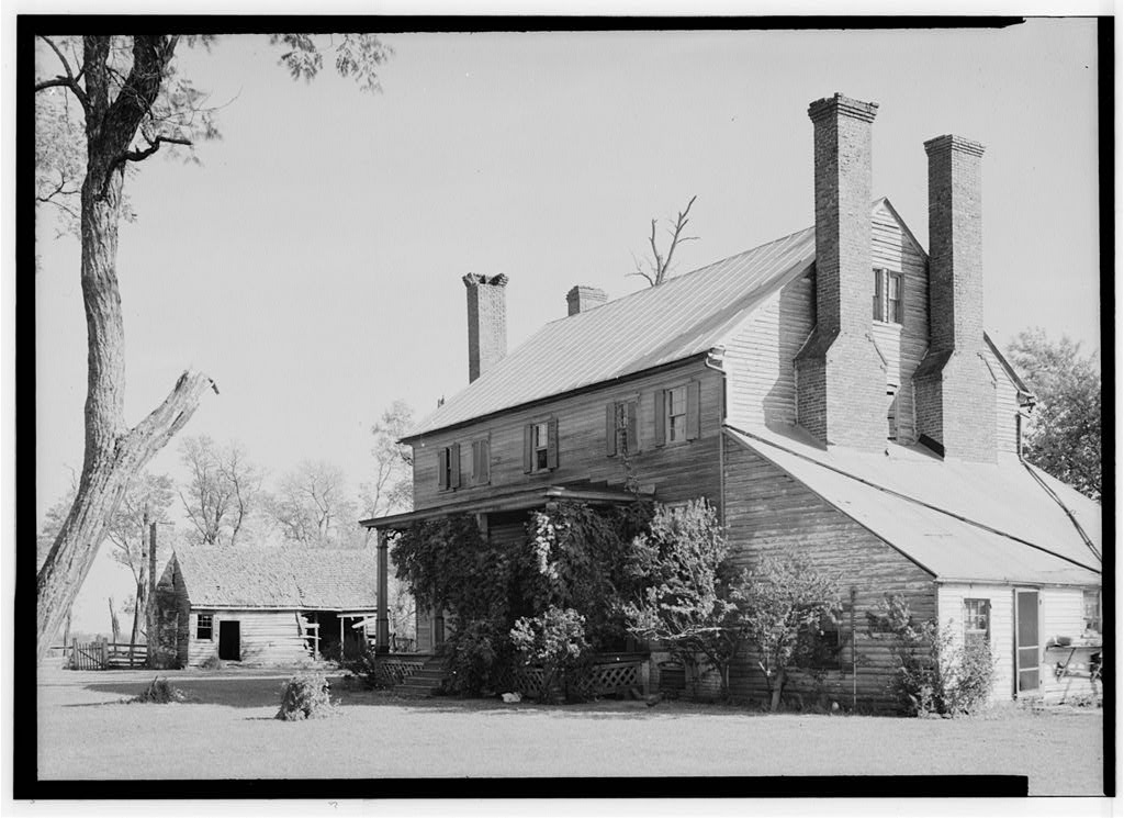 Photograph of Effingham main house circa 1930s (HABS 1959)