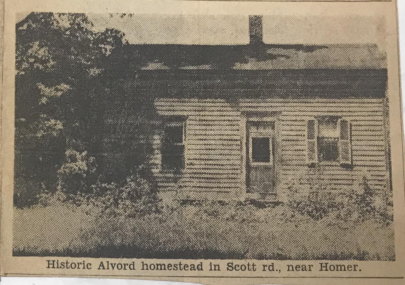 Historic Alvord homestead in Scott rd., near Homer