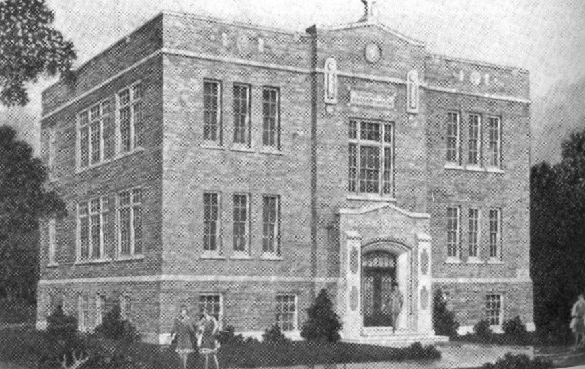 Architect's rendering of Presentation School, which opened in 1929.