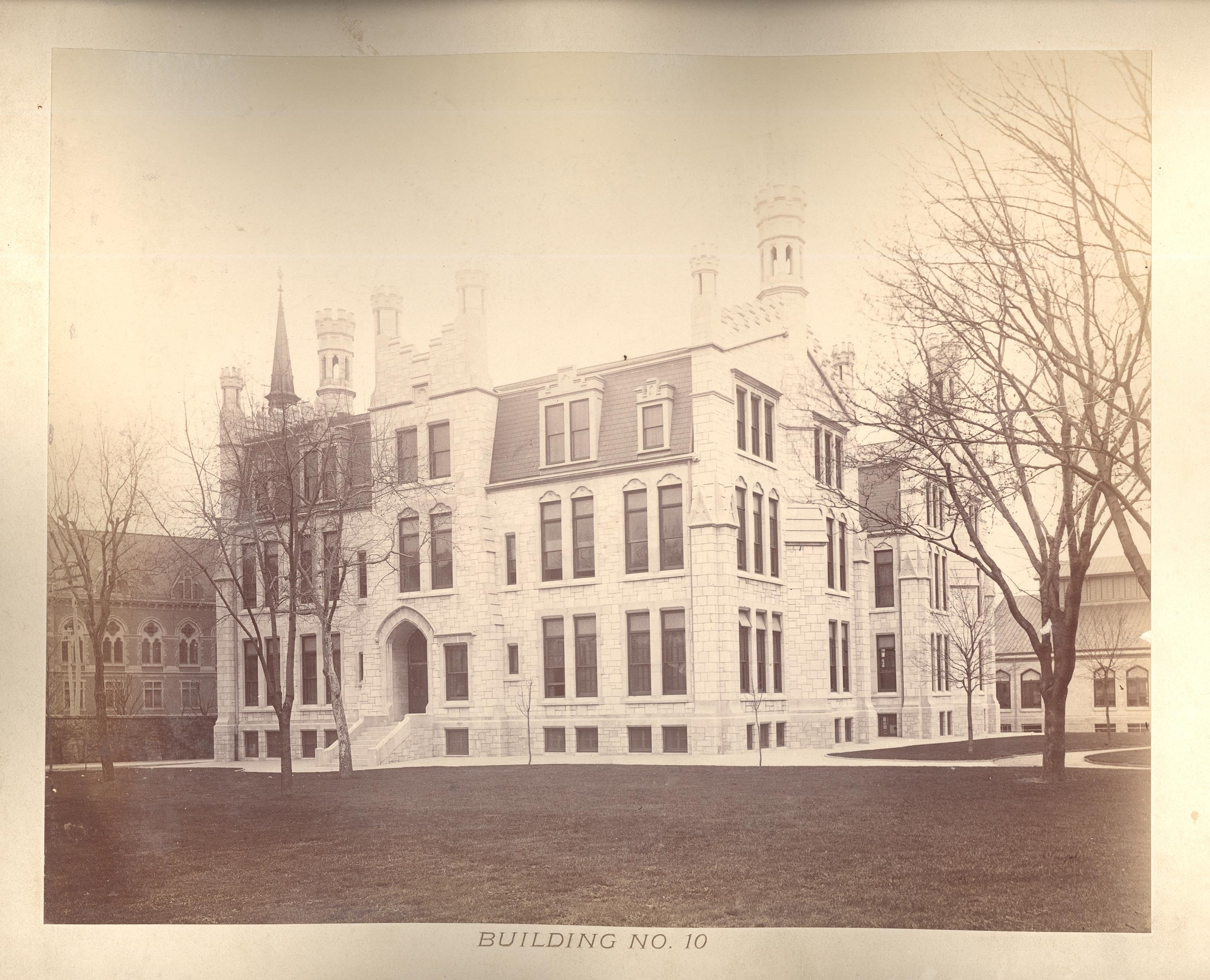 1893 photo of Building No. 10, later known as the Middle School Building.