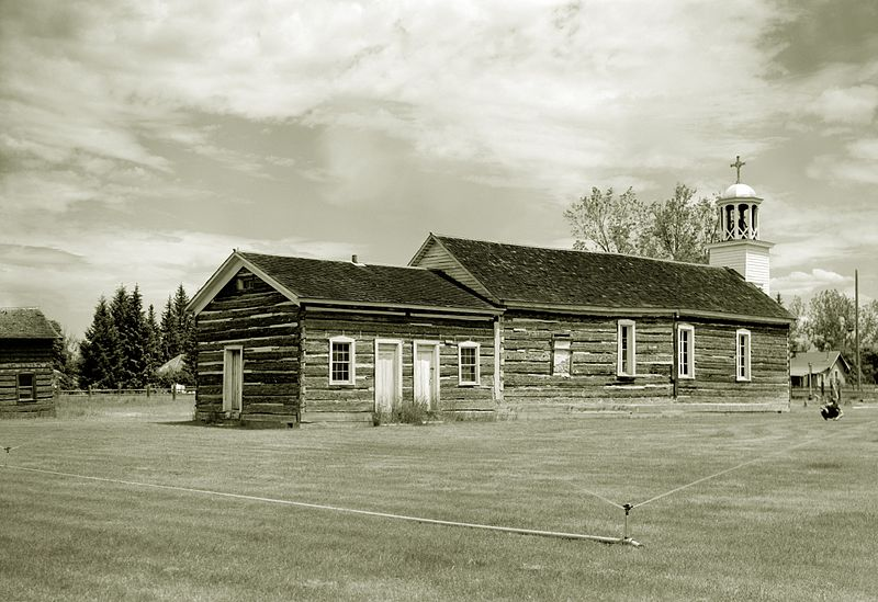 The historic pharmacy used by Father Ravalli to administer medications to residents in the area, July 1965