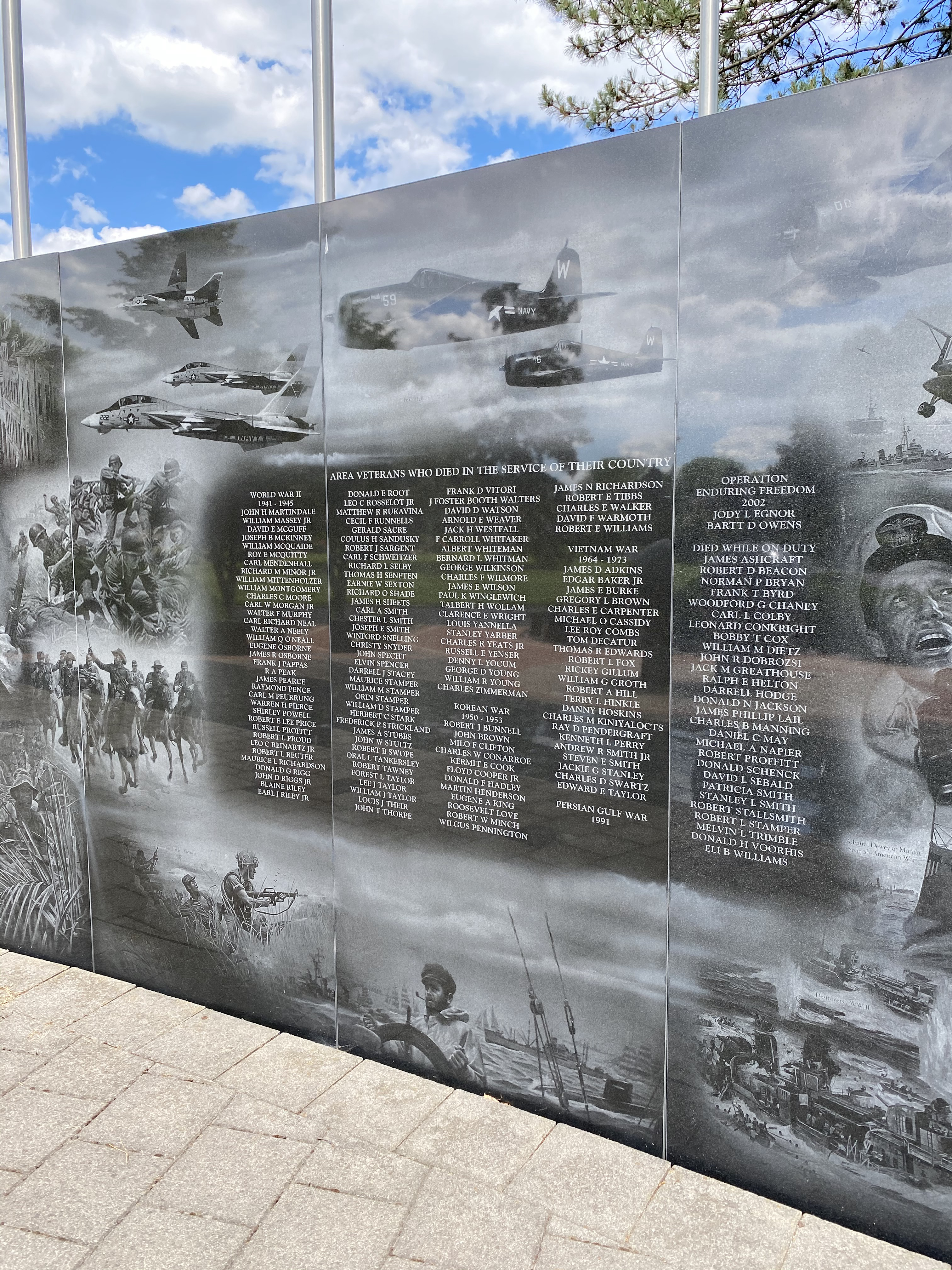 Area Veterans who died during their service