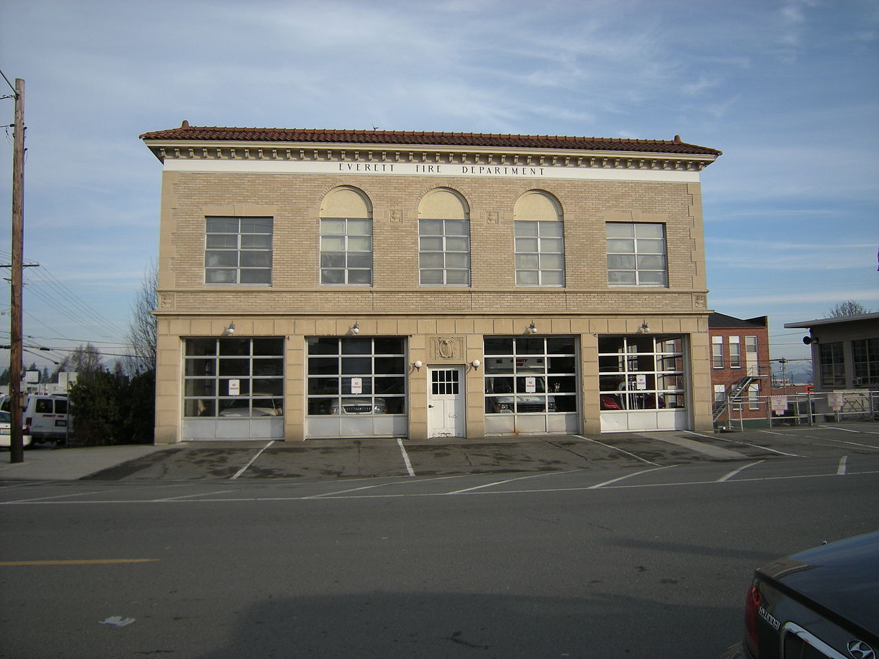 Everett Fire Station No. 2 was built in 1925 and functions today as a training facility.