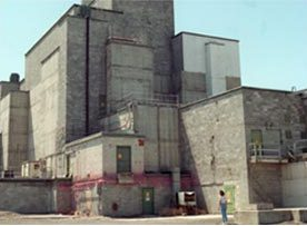 The main reactor building today