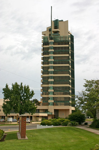 This tower was completed in 1956 by famous architect Frank Lloyd Wright.