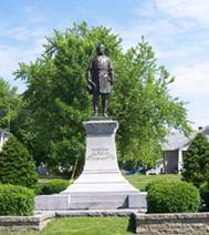 The United Daughters of the Confederacy raised funds and pressured local politicians to erect this monument to General Sterling Price in 1915.