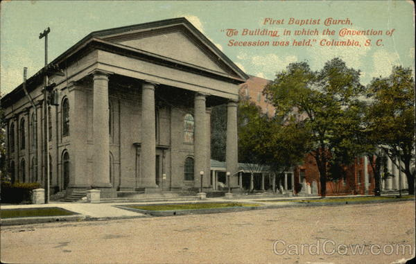 The church as it appeared on an old postcard.