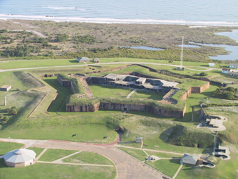 This photo shows more detail and trenches of the fort.