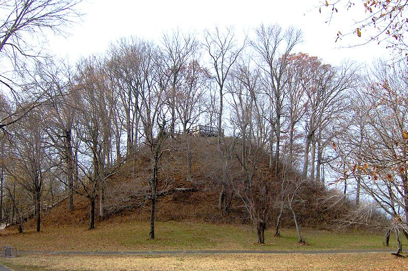 Saul's Mound is 72 feet tall and is the second highest mound in the country. It is one of 17 mounds at this site that constitute a National Historic Landmark.