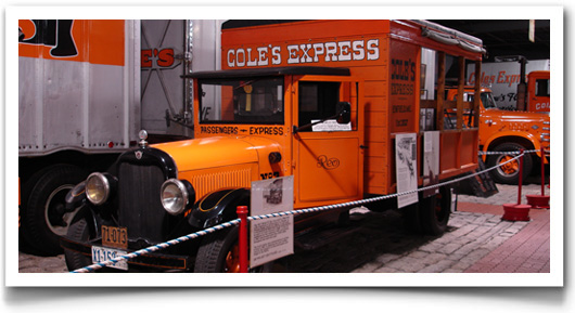The museum offers a variety of historic vehicles such as trucks, motorcycles, tractors, trains, and snowplows.