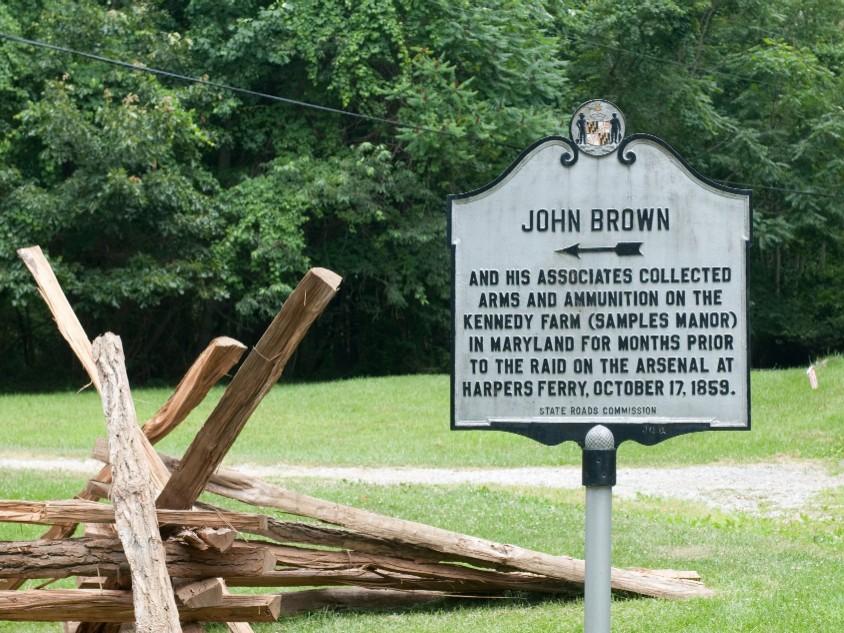 John Brown historical marker.