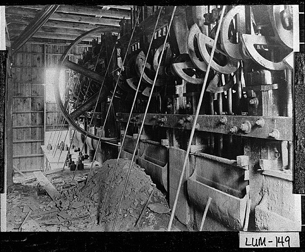 The stamp mill at Calhoun Mine