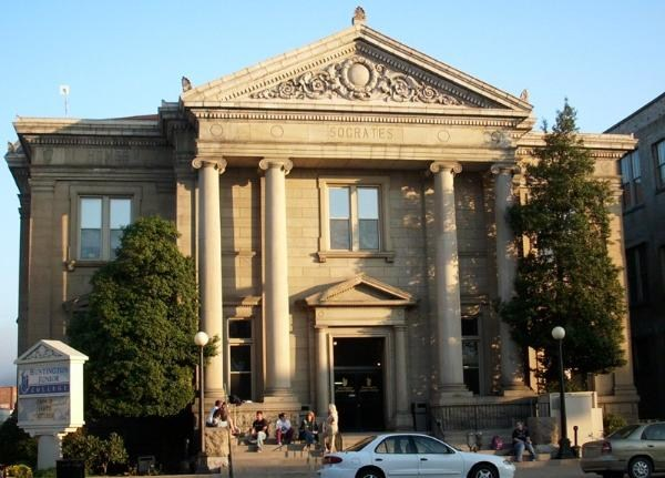 The library was built in 1902-1903 and was designed in the Beaux Arts style, a popular format for Carnegie libraries and public buildings in general during the early twentieth century.