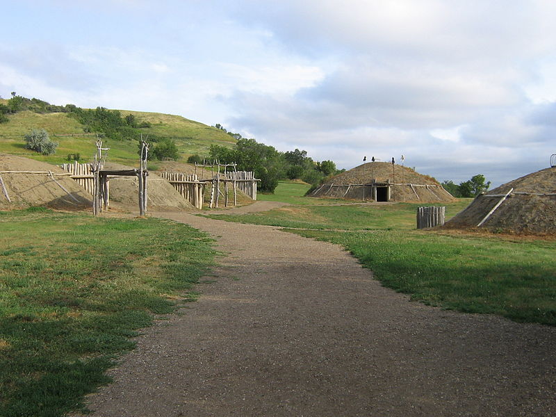 The reconstructed Mandan village gives visitors a sense as to what life was like for the Mandan between 1575-1781. Photo: