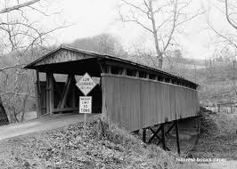 Staats Mill Covered Bridge was in danger of being destroyed but instead was removed to Cedar Lakes when a modern bridge was constructed as a replacement.