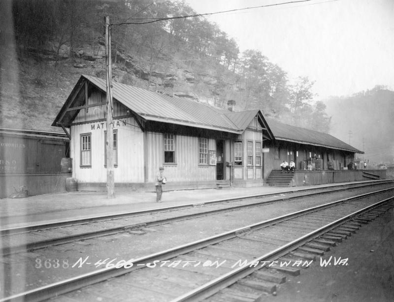 An undated historical photo of the station.