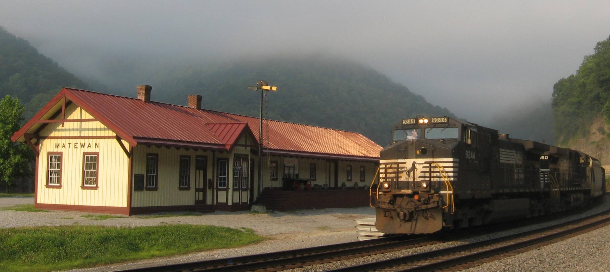 The museum is located inside a replica of Matewan Station from the era of steam-powered trains and the coal boom of the early 20th century.