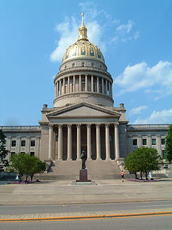 West Virginia's State Capitol was constructed from 1924 to 1932 and the building is the tallest in the state.