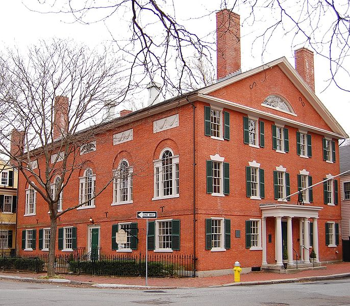 Hamilton Hal, one of the primary examples of Federal style architecture.