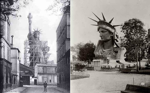 Construction of Lady Liberty