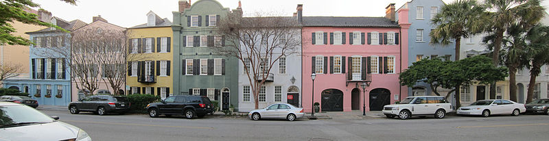 Rainbow Row Houses