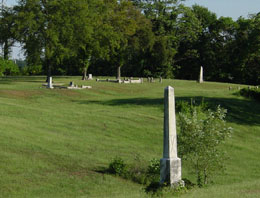 section of cemetery