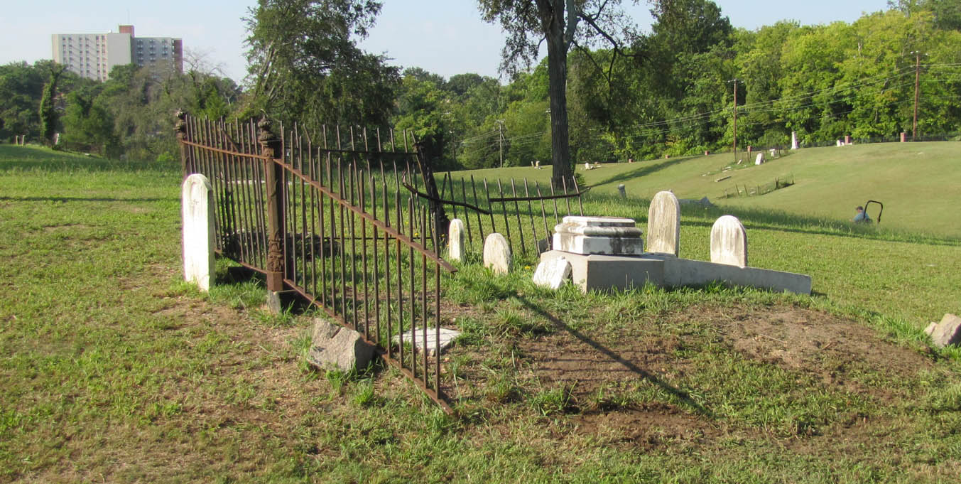 family plot in cemetery