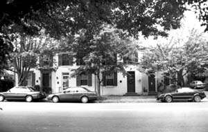 The Moses Hepburn Row Houses were built in 1850 right after Moses Hepburn purchased the land.