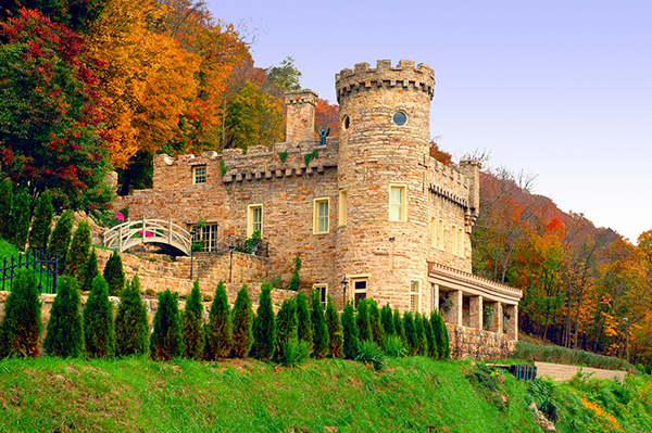 The exterior of the Berkeley Springs Castle has changed very little over the years