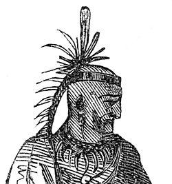 Artist's rendition of Chief Cornstalk