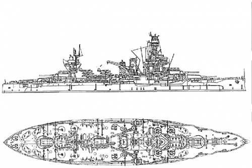 Diagram of the ship