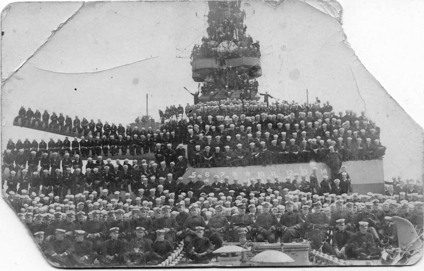 Sailors on the deck of the ship