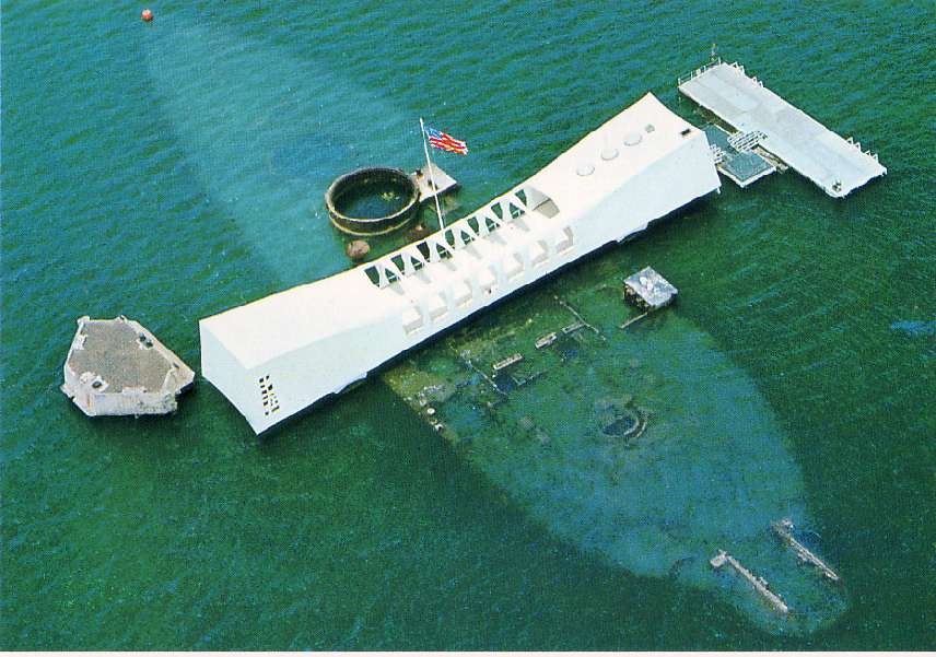 The Arizona Memorial from above