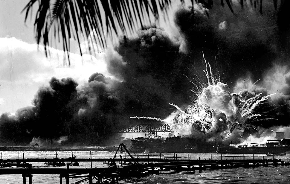 The vessel during the attack on Pearl Harbor
