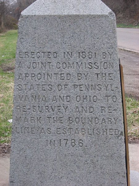 One side of the marker