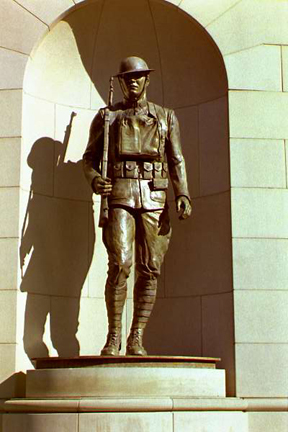 World War I statue Army doughboy designed and photographed by P. Joseph Mullins