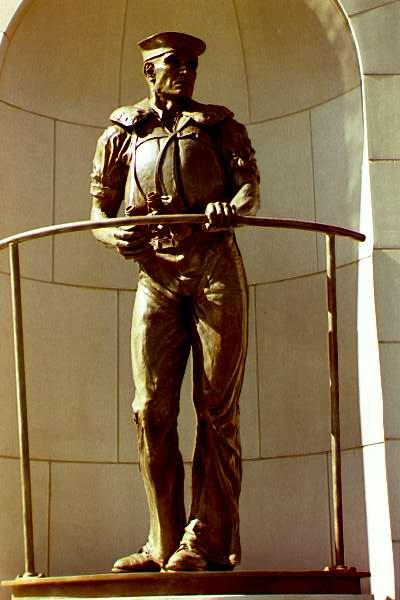 World War II Navy sailor statue designed and photographed by P. Joseph Mullins