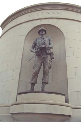 Vietnam Marine Corps marine statue designed and photographed by P. Joseph Mullins