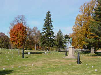 A section of the cemetery