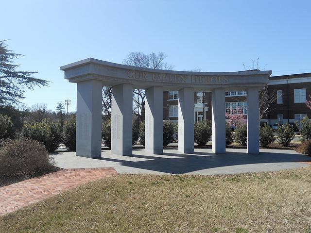 War Memorial from a distance
