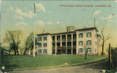 Historic postcard picture of the hospital.