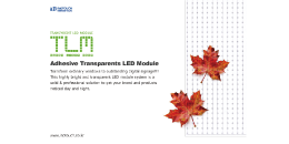 Transparent LED Module (TLM)