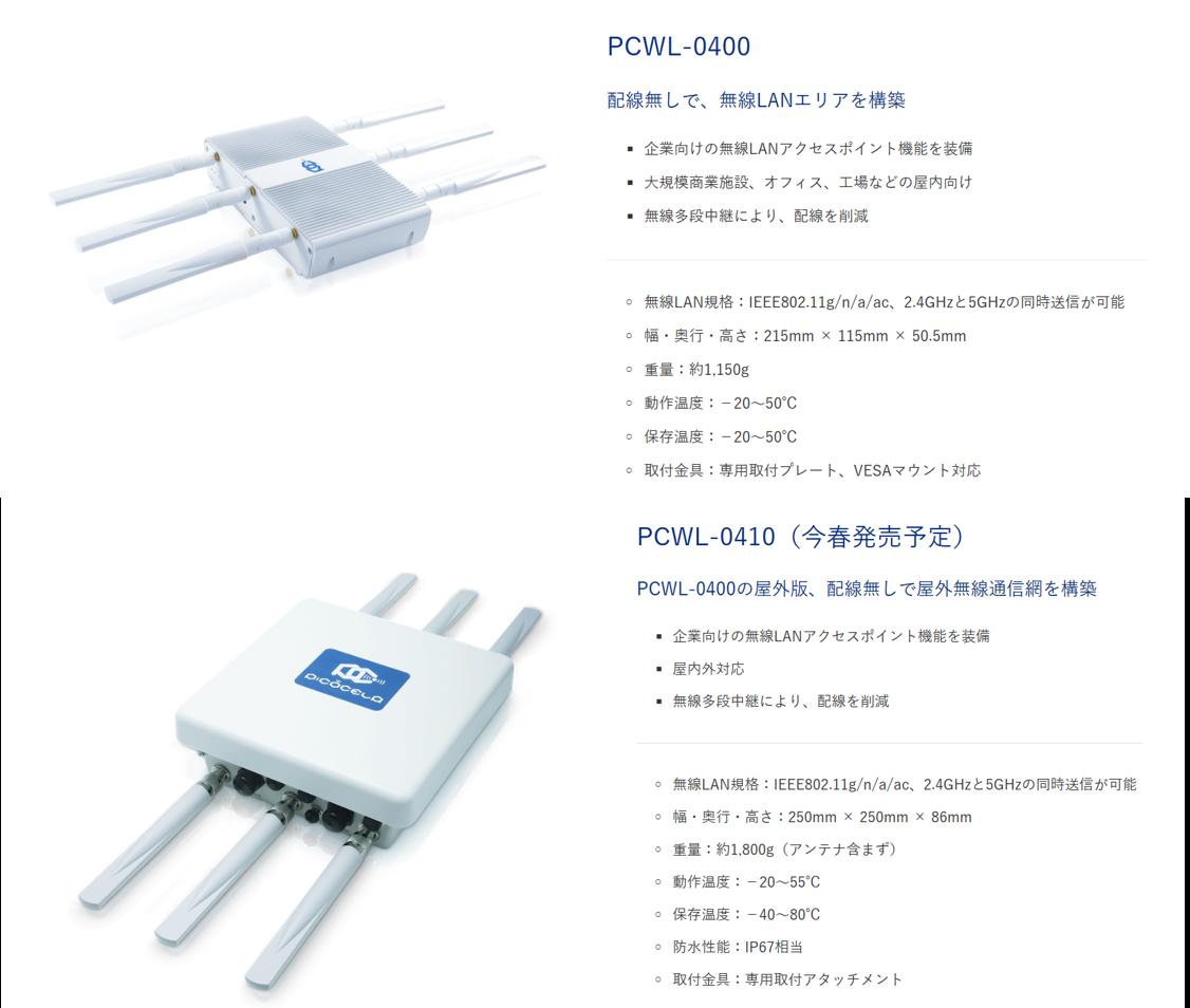 PCWL-0400  (屋内用) PCWL-0410  (屋外用)