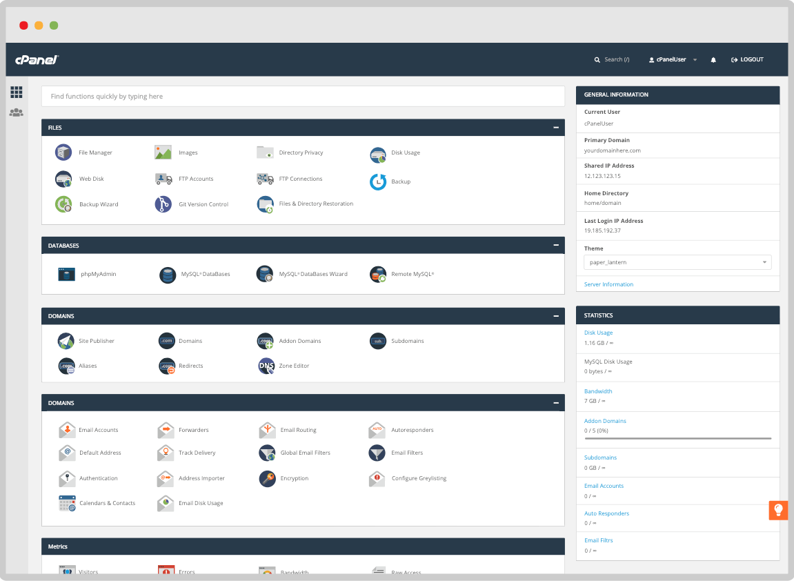 demo hosting cpanel hosting trial