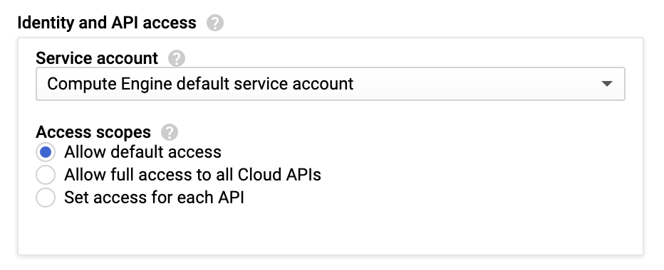GCP API access scope