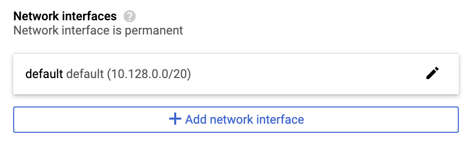 GCP Network interfaces