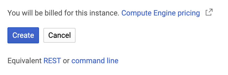 GCP REST and command line