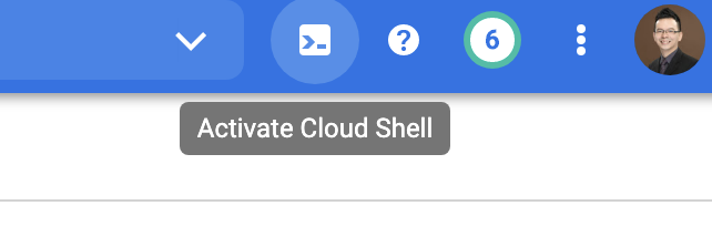 開啟 Cloud Shell