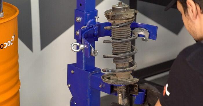 Trin-for-trin anbefalinger for gør-det-selv udskiftning på Skoda Fabia 6y5 2002 1.4 TDI Fjeder