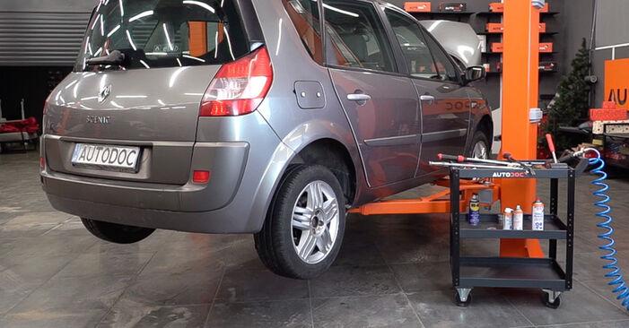 Renault Scenic 2 1.5 dCi 2005 Spyruoklės keitimas: nemokamos remonto instrukcijos